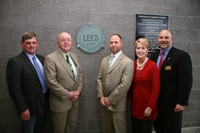 LLCC Trustees unveil LEED plaque small
