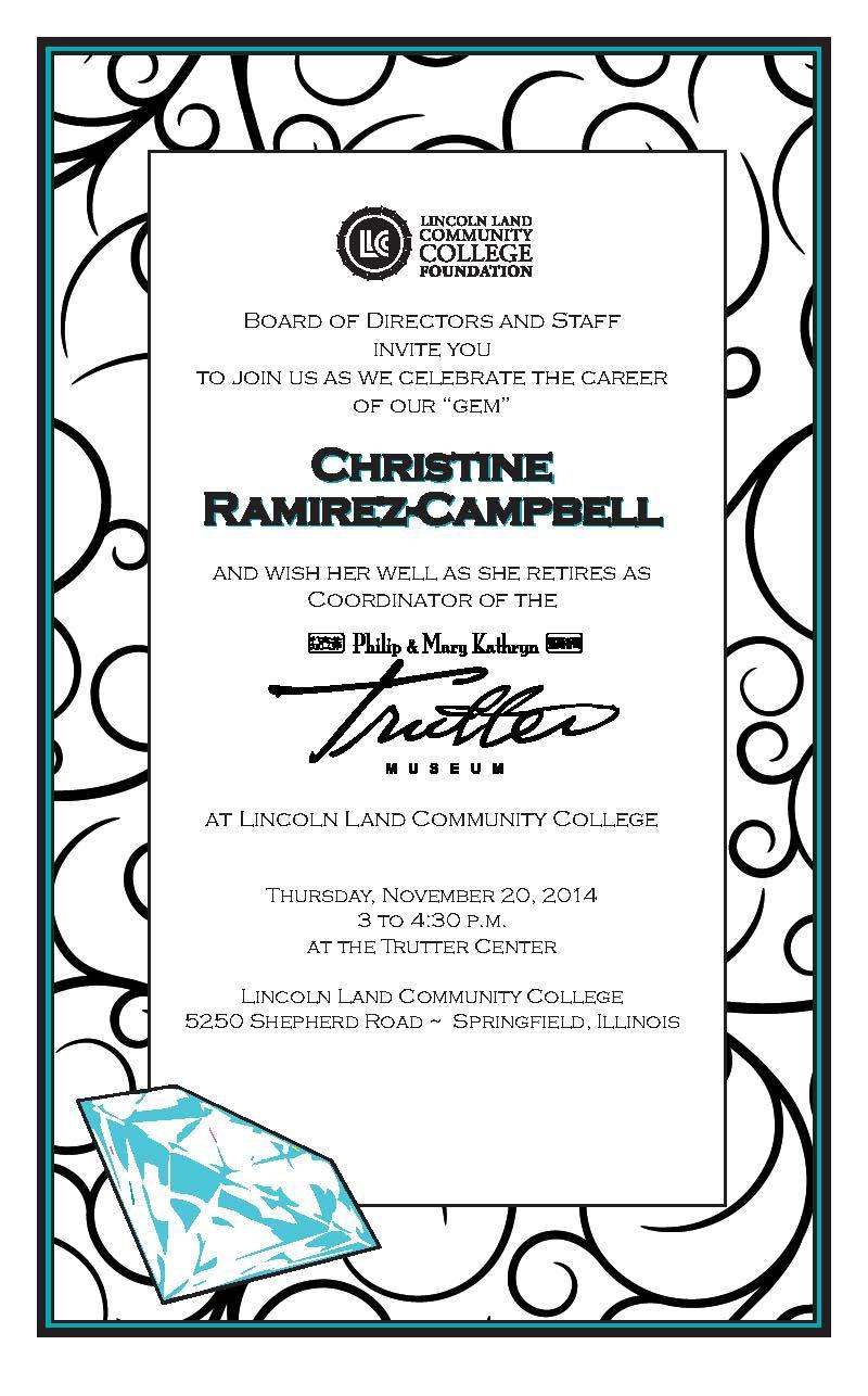 retirement reception tomorrow for christine ramirez campbell lincin