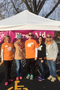 First Aid: Kaitlyn Wagoner, Katie Eckles, Abigale Millburg, Ellyn Baker, Mary Golstein