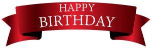 Happy Birthday red banner