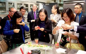 Chinese delegation touring WFCC