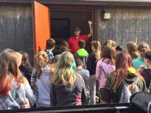 Edinburg students visiting campus