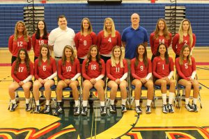 2017 LLCC volleyball team