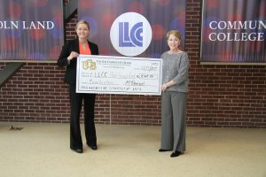 United Community Bank check presentation to LLCC
