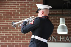 """Lance Corporal Bobby Herpel playing """"Taps"""""""