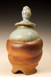 Fishscale Bulbous Jar by Michelle Coakes