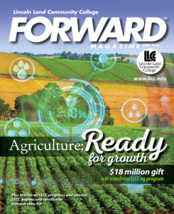 Cover of LLCC's April 2018 FORWARD magazine