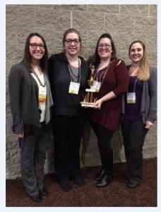 Scholar Bowl Team – Lauren Cachera, Katie Holliday, Margie Christian and Lauren Burns