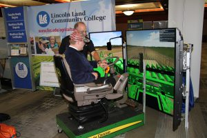 LLCC Ag combine simulator at FFA Convention