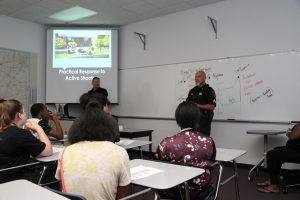 Sergeant Hanson and Sergeant Meador with Career Launch teens
