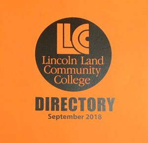 Lincoln Land Community College Directory September 2018