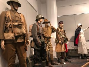 World War I uniform exhibit