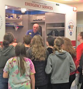 Demonstration of ambulance simulator