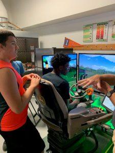 combine simulator