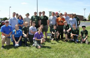 Boy Scout Troop 210 and volunteers to install bluebird houses