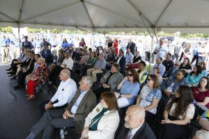 Crowd at groundbreaking