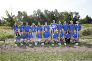 LLCC ag students at groundbreaking
