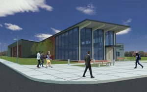 Rendering of the new Kreher Agriculture Center