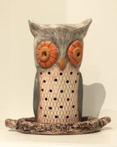 Owl ceramic by Wilma Wofford