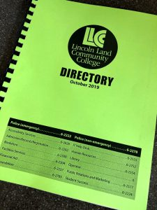 Lincoln Land Community College Directory October 2019