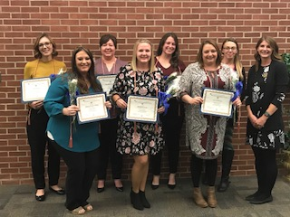 Fall 2019 Alpha Delta Nu Honors Society inductees