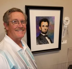 "Greg Walbert with ""Lincoln,"" third place"