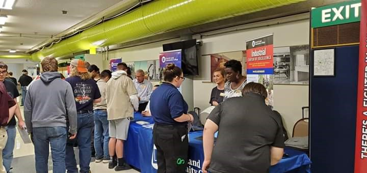 LLCC exhibit at CACC College and Career Fair