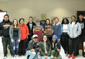 EGL 101 class that collected the most clothing items