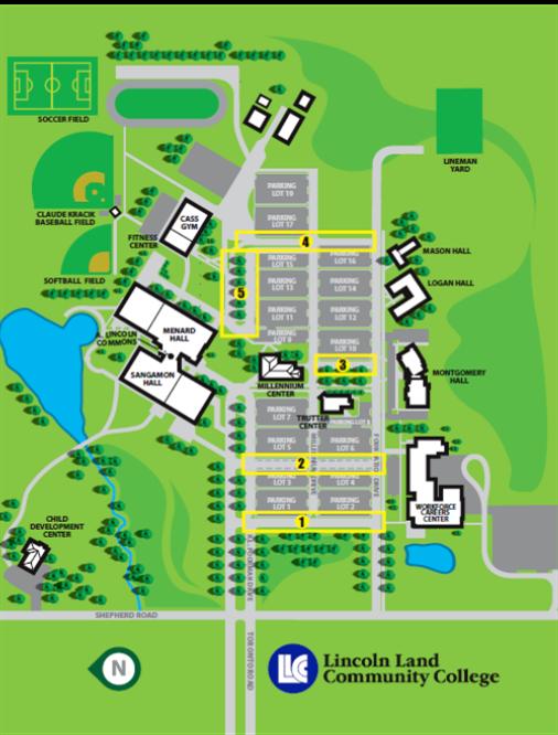 LLCC-Springfield map