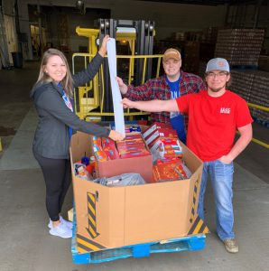 LLCC Ag Club with purchased food for donation