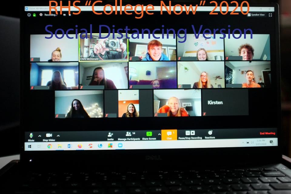 College Now class via Zoom
