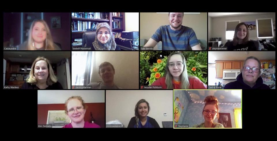 Virtual education class via Zoom