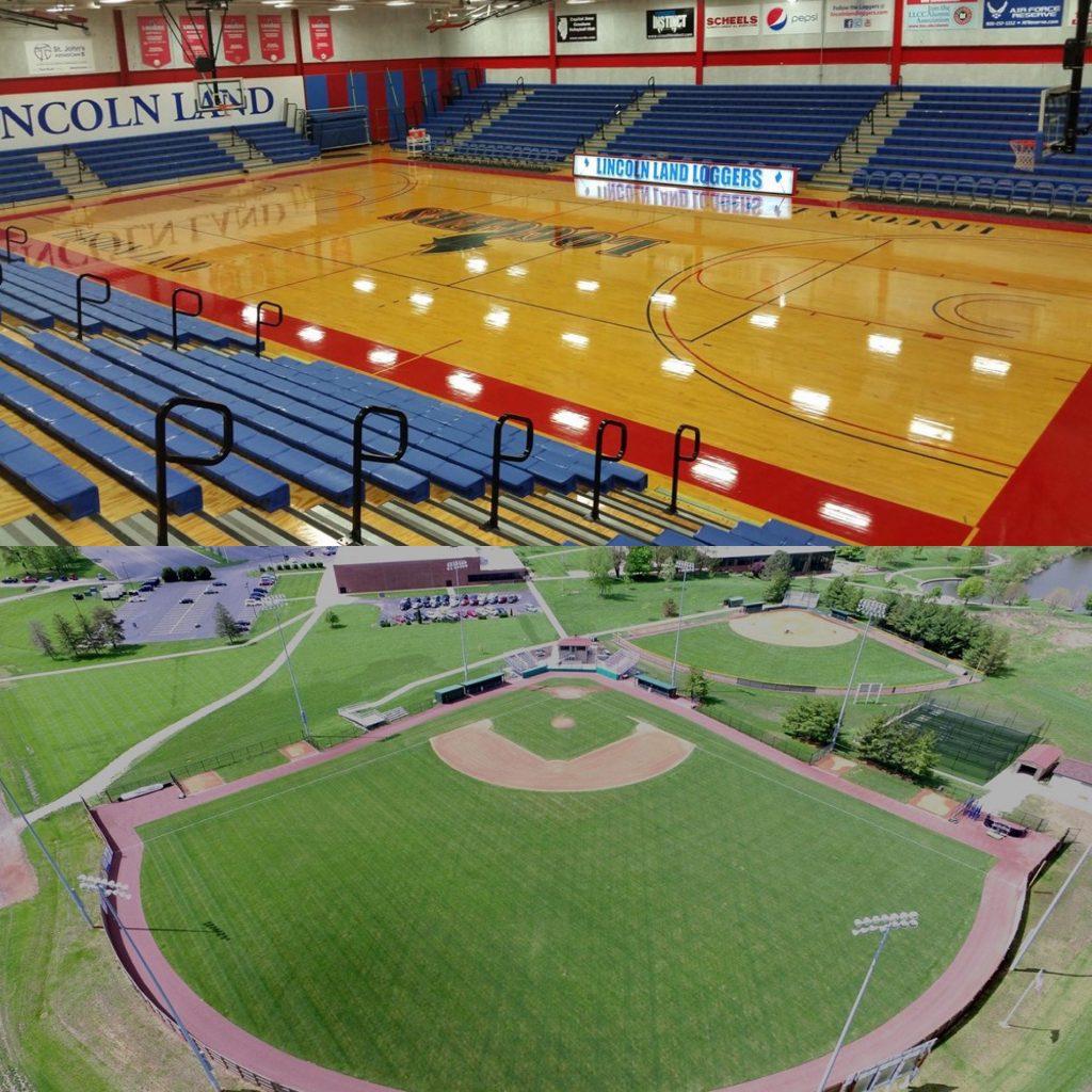 LLCC basketball court and baseball field