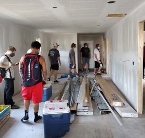 HVACR class at Habitat for Humanity house build