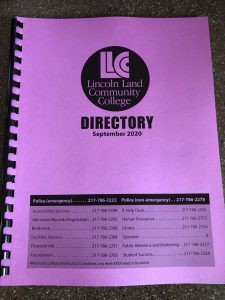 LLCC Lincoln Land Community College Directory September 2020