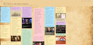 Padlet. Let's Write in the Field of History. Details for how writing in an integral part of careers with an emphasis in history. Link: https://llcc.padlet.org/lauriemyers/kwhiot0la3dwvh6g
