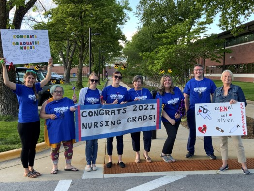 Nursing faculty and staff at parade