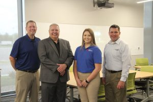 Alexis Carroll with representatives from Farm Credit Illinois