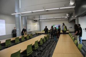 Faculty and staff tour of interactive classroom