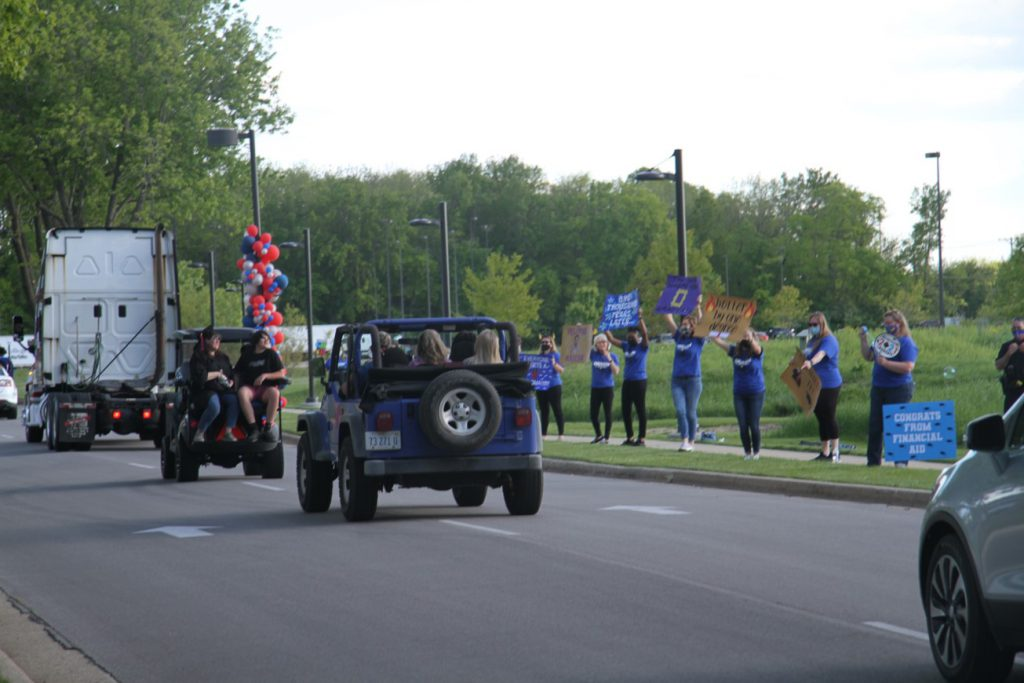 Cars in parade route