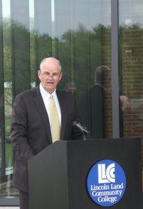 Ken Elmore, LLCC Board Chair, speaking