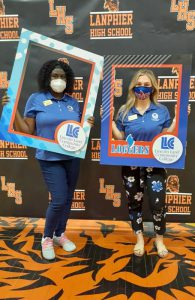 Kim Wilson and Emily Smith at Lanphier High School