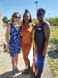 Michelle Burger, Kylana Moore and Kim Wilson