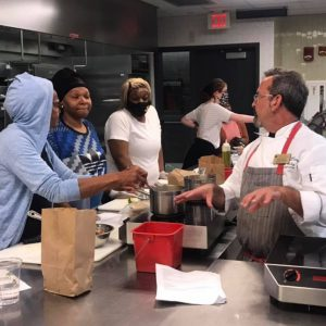 Cooking in the culinary lab