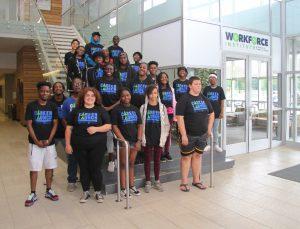 Boys & Girls Club members at Workforce Careers Center