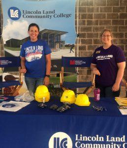 Holly Bauman and Tisha Miller at LLCC booth at fair