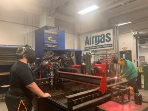 Career Launch students in welding lab