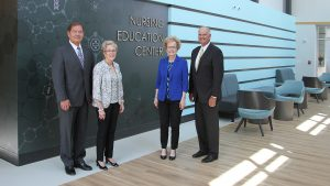 Ed Curtis, Dr. Charlotte Warren, Marsha Prater and Ken Elmore