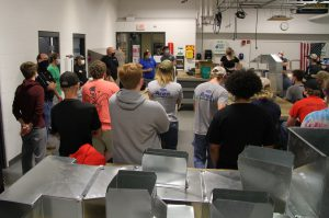 CACC students in HVACR lab