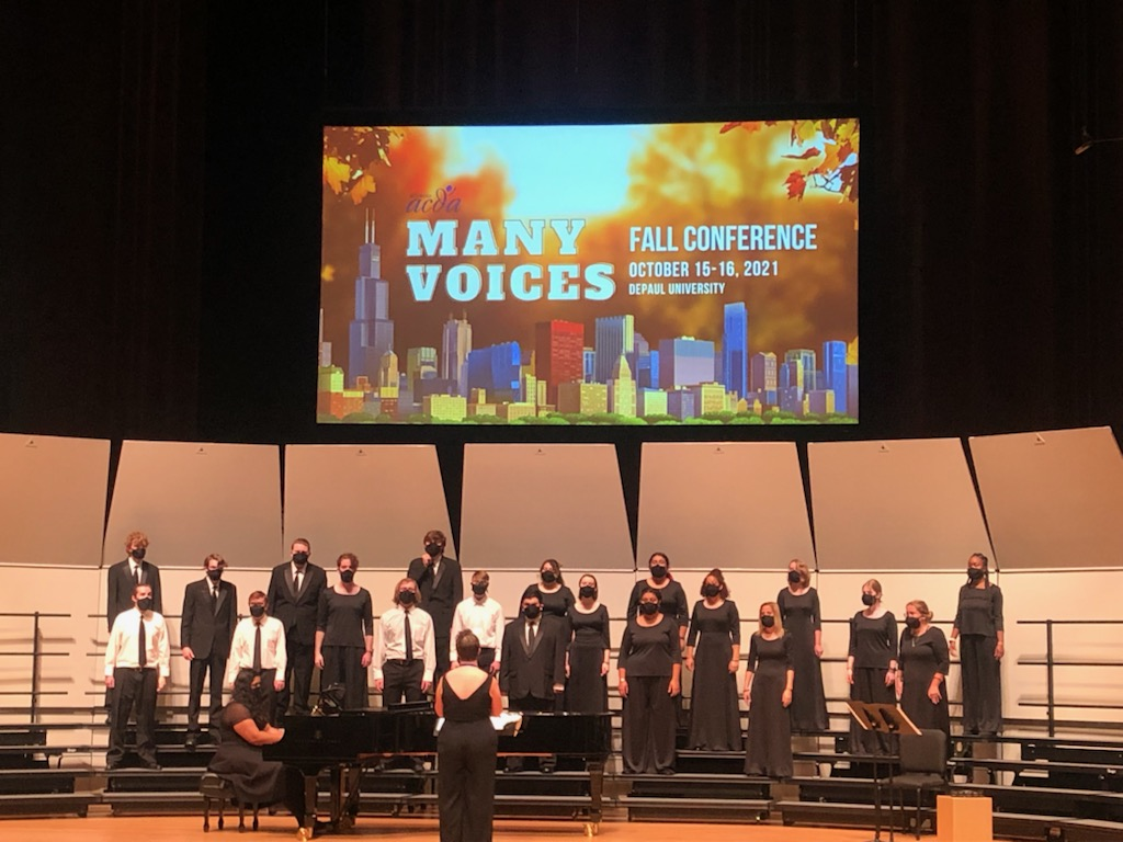 Photo of LLCC Choir at ACDA concert